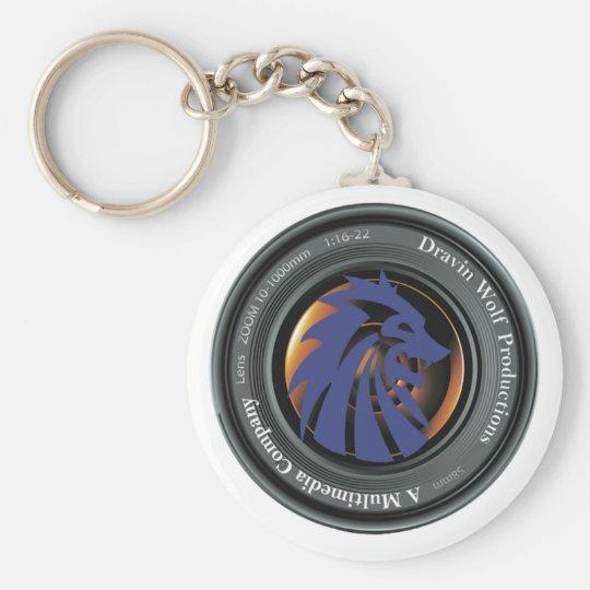 Offizielles Logo der Dravin Wolf-Produktionen Standard Runder Schlüsselanhänger