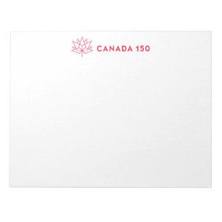 Offizielles Logo Kanadas 150 - horizontale rote Notizblock