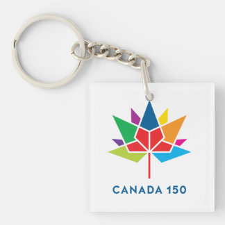 Offizielles Logo Kanadas 150 - Mehrfarben Schlüsselanhänger