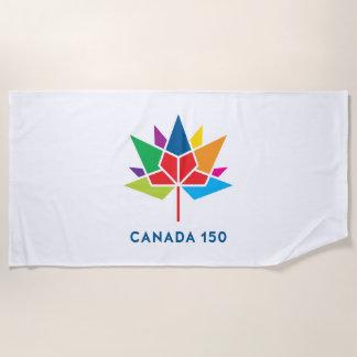 Offizielles Logo Kanadas 150 - Mehrfarben Strandtuch