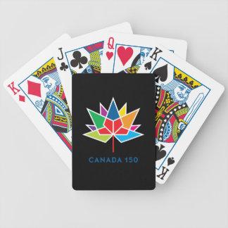 Offizielles Logo Kanadas 150 - Mehrfarben- und Bicycle Spielkarten