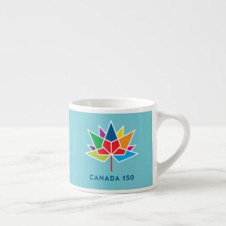Offizielles Logo Kanadas 150 - Mehrfarben- und Espressotasse