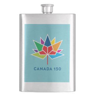 Offizielles Logo Kanadas 150 - Mehrfarben- und Flachmann