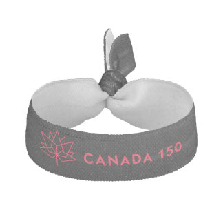 Offizielles Logo Kanadas 150 - Schwarzes und Rot Haargummi