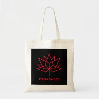 Offizielles Logo Kanadas 150 - Schwarzes und Rot Tragetasche
