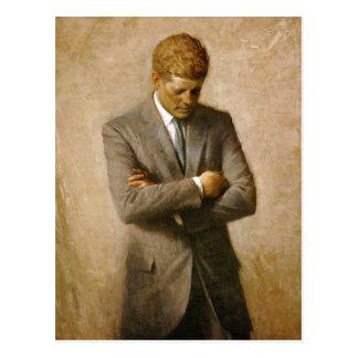 Offizielles Porträt John F. Kennedy durch Aaron Postkarte