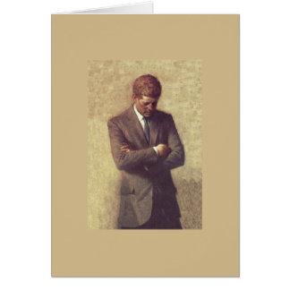 Offizielles Porträt John F. Kennedy Karte