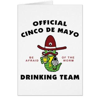 Offizielles trinkendes Team Cinco Des Mayo Karte