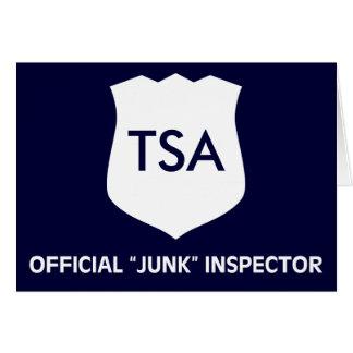 Offizielles TSA Kram-Inspektor-Licht Karten