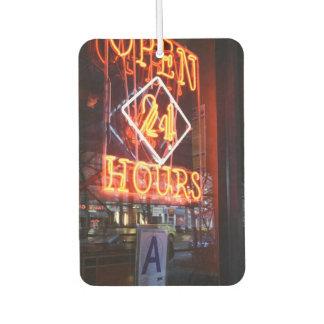 Öffnen Sie 24 des Neonrestaurant-Stunden Autolufterfrischer