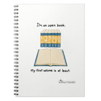 Öffnen Sie Buch-Weiß-Notizbuch Notizblock