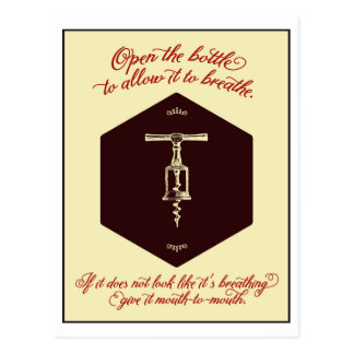 """""""Öffnen Sie die Flasche des Weins"""" Gruß-Karte - Postkarte"""