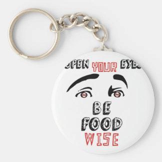 Öffnen Sie Ihre Augen ist die kluge Nahrung Schlüsselanhänger