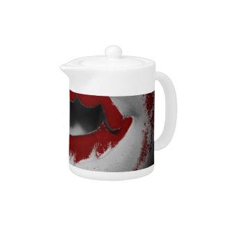 Öffnen Sie Mund-blutige Vampirs-Reißzähne