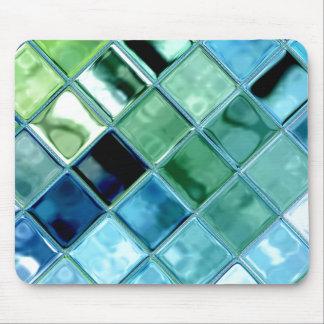 Öffnen Sie Ozean-Glasfliesen-Mosaik-Kunst Mousepad