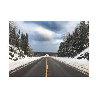Öffnen Sie Straße in Michigans oberer Halbinsel Leinwanddruck