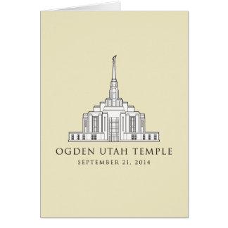 Ogden Utah Tempel. Sept. 21, 2014. Grußkarte