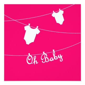 Oh Baby-Schwangerschafts-Mitteilung Quadratische 13,3 Cm Einladungskarte