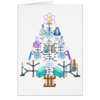 Oh Chemie, oh Chemiker-Baum Grußkarte