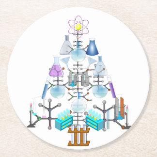 Oh Chemie, oh Chemiker-Baum Runder Pappuntersetzer