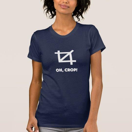 Oh Fotograf-Shirtdesigner der Ernte lustiger T-Shirt