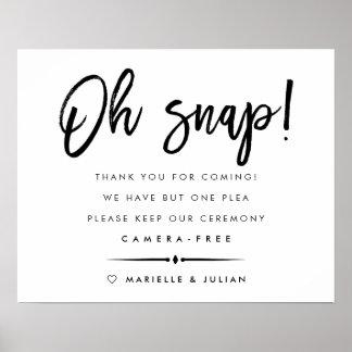 Oh getrennte Zeremonie des Verschluss-| Typografie Poster