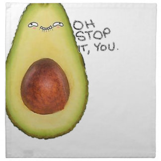 Oh Halt es Sie - Meme Avocado Serviette