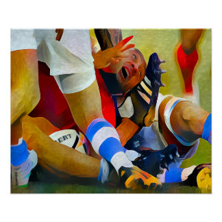 Oh Hinweis! - Rugby-Kunst auf Leinwand Poster