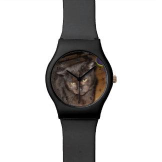 Oh, jene Schlafzimmer-Augen, schwarze Katze Uhr