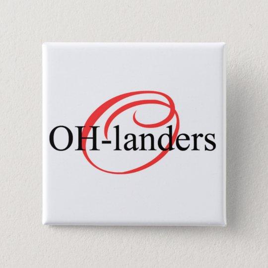 Oh-Landers Logo-Knopf Quadratischer Button 5,1 Cm