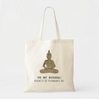 Oh meine lustige Silhouette Buddhas Budget Stoffbeutel