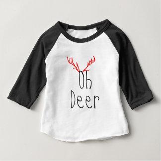 Oh Rotwild-Weihnachtsbaby Raglan-T - Shirt