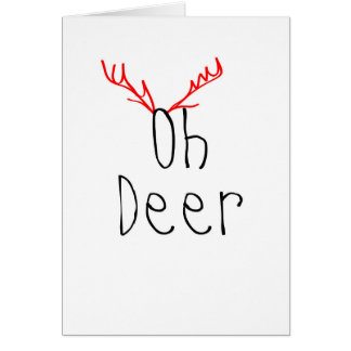 Oh Rotwild-Weihnachtskarte Karte