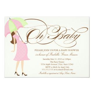 Oh Skript des Baby-| Brown 12,7 X 17,8 Cm Einladungskarte