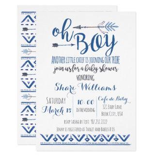 Oh Stammes- Babyparty-Einladung 12,7 X 17,8 Cm Einladungskarte