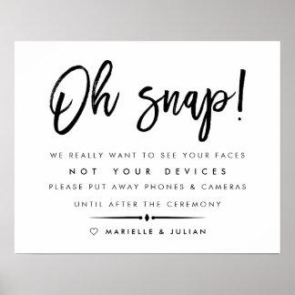 Oh Verschluss-| getrenntes Poster