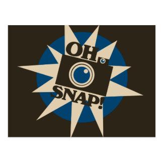 Oh Verschluss-Retro Kamera Postkarte