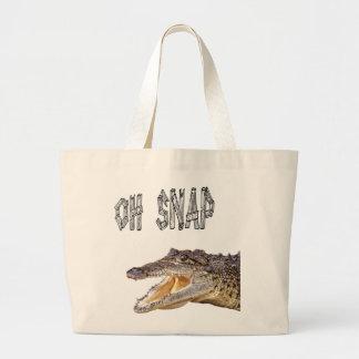 OH-VERSCHLUSS - verärgerter Alligator Jumbo Stoffbeutel
