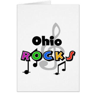 Ohio-Felsen Grußkarte