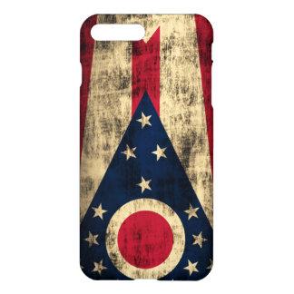 Ohio-Flaggen-Schmutz iPhone 8 Plus/7 Plus Hülle