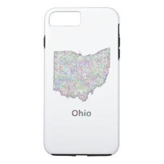 Ohio-Karte iPhone 8 Plus/7 Plus Hülle