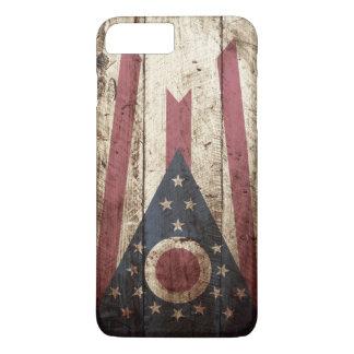 Ohio-Staats-Flagge auf altem hölzernem Korn iPhone 8 Plus/7 Plus Hülle