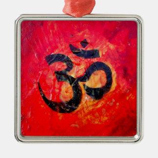 Ohm Silbernes Ornament