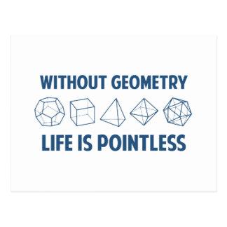Ohne Geometrie ist das Leben sinnlos Postkarte