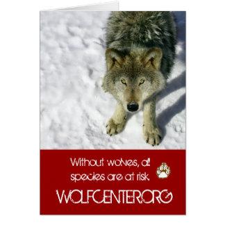 Ohne Wölfe Notecards Mitteilungskarte