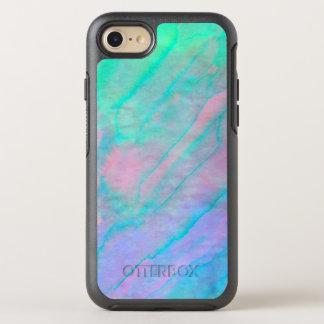 Ohrschnecken-Muschelwatercolor-Perlmutt Stein OtterBox Symmetry iPhone 7 Hülle