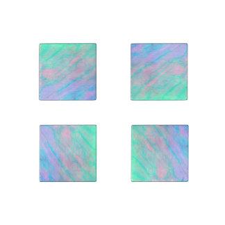Ohrschnecken-Muschelwatercolor-Perlmutt-Stein Stein-Magnet