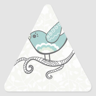 Oiseau Autocollants En Triangle