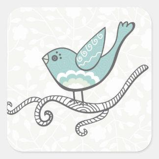 Oiseau Autocollants Carrés