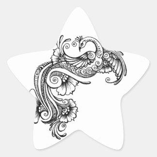 oiseau autocollants en étoile